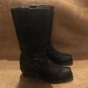 Boulet Black Motorcycle Boots